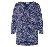 Shirt 'Daina' weiß / royalblau
