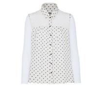 Detailreiches Hemd ohne Ärmel anthrazit / weiß
