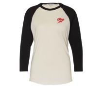 Baseball-Shirt 'Careless Whisperes' creme / schwarz