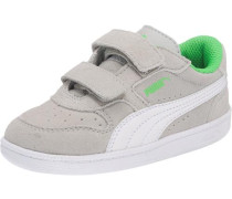 Baby Sneakers 'Icra Trainer SD' aus Leder beige / grau / neongrün