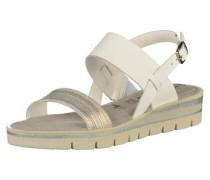 Sandalen grau / silber / weiß