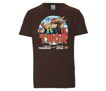 "T-Shirt ""Thor"" hellblau / dunkelbraun / rot"