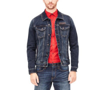 Jeansjacke aus Stretchdenim blue denim