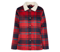 Jacket 'plaid Team' navy / rot