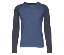 Pullover 'Craik' grau / blau
