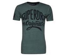 T-Shirt mit Logoprint grün