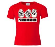 T-Shirt 'Panzerknacker - Disney' rot