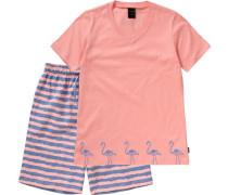 Schlafanzug blau / rosa