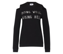 Sweater 'doing well raising hell' schwarz