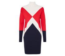 Kleid 'gigi Hadid Graphic Mock-Nk' blau / rot / weiß