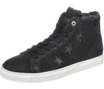 Anna Donna Fur Mid Sneakers schwarz