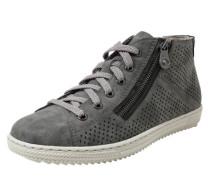 Hohe Sneaker mit Reißverschluss grau