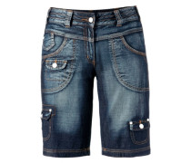 Jeansbermudas blau