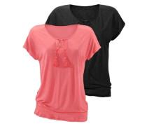 T-Shirts (2 Stück) orange / schwarz