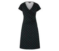 Midi-Kleid 'Cross Dress Partypolka' grün / schwarz