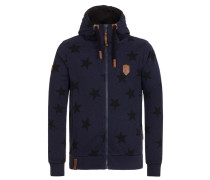Male Zipped Hoody Dreamchaser blau