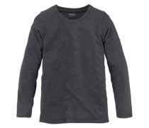 Longshirt für Mädchen grau