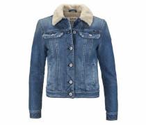 Jeansjacke blau / weiß
