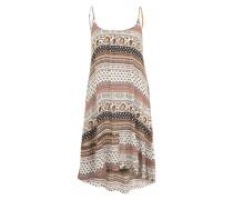 Sommerkleid braun / weiß