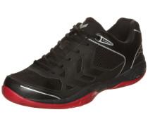Handballschuh 'Omnicourt Z4' rot / schwarz / silber