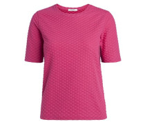Kurzärmelige Bluse pink