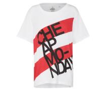 T-Shirt 'Breeze' rot / weiß