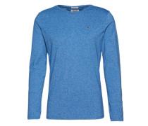 Langarmshirt in Melange-Optik kobaltblau