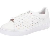 Sneakers gold / weiß