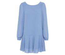 Chiffon-Minikleid himmelblau