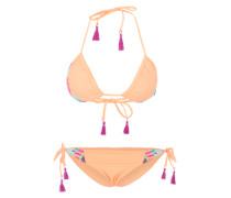 Triangel-Bikini 'Memori' mischfarben / orange