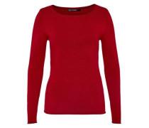 Pullover mit Rollkanten rot