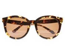 Runde Sonnenbrille braun