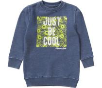 Sweatshirt für Jungen blau / kiwi / weiß