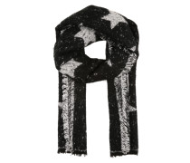 Schal mit Jacquard Muster schwarz