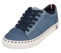 Sneaker im Canvas-Look blau