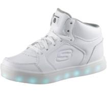 Sneakers 'High Blinkies' mit LED Sohle weiß