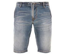 Tubx Chino: Denim-Bermuda blue denim