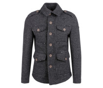 Jacke aus italienischer Wolle schwarz