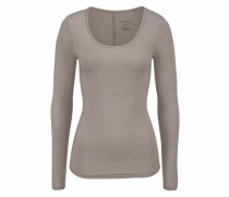 Langarm-Shirt 'Personal Fit' taupe
