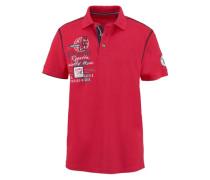 Poloshirt rot / schwarz / weiß