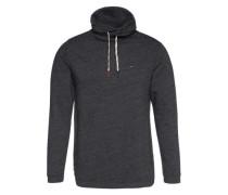 Sweatshirt mit Schalkragen schwarzmeliert