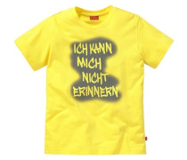 """T-Shirt """"Ich kann mich nicht erinnern"""" gelb / grau"""