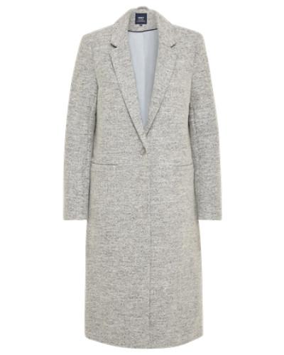 Übergangsmantel 'onlHELLA Long Wool Coat Otw' hellgrau