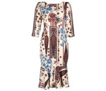 Kleid 'liliana' creme / rauchblau / rot
