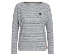 Female Sweatshirt 'Zeich ma Titten' marine / grau