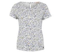 Printshirt mit Knopfleiste am Rücken mischfarben / weiß