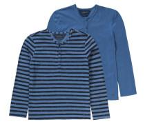 Langarmshirt für Jungen im Doppelpack blau
