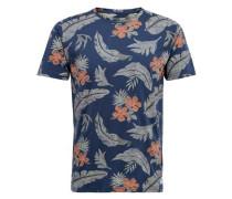 T-Shirt Bedrucktes blau