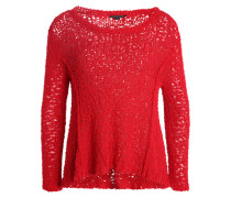 Pullover aus Bändchengarn rot