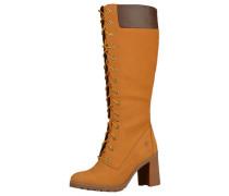 Stiefel braun / goldgelb / orange